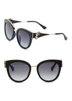 Jimmy Choo Jade Oversized Sunglasses & Crystal Clip-On Ear Climbers