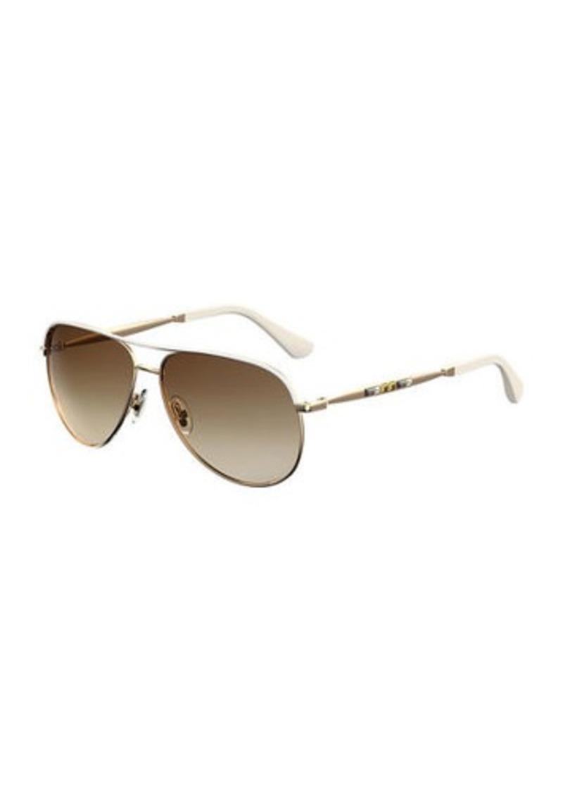 7f4f9974144 Jimmy Choo Jewly Rhinestone Aviator Sunglasses
