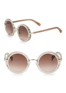 Jimmy Choo 50mm Embellished Round Sunglasses