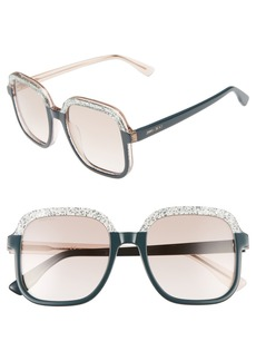Jimmy Choo 53mm Glitter Frame Sunglasses