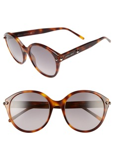 Jimmy Choo 55mm Oversized Sunglasses