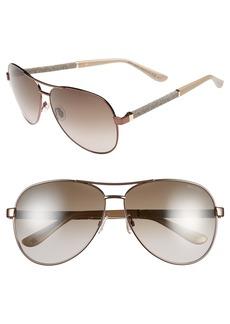 Jimmy Choo 61mm Aviator Sunglasses