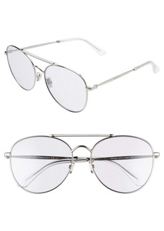 Jimmy Choo Abbie 61mm Aviator Sunglasses