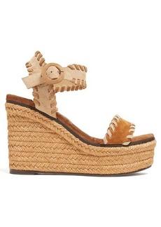 Jimmy Choo Abigail 100 espadrille wedge sandals