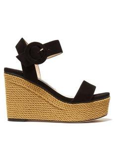 Jimmy Choo Abigail 100 suede wedge sandals