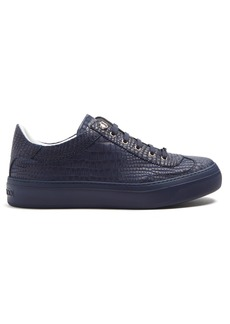 Jimmy Choo Ace low-top crocodile-effect nubuck trainers