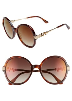 Jimmy Choo Adria 55mm Round Sunglasses