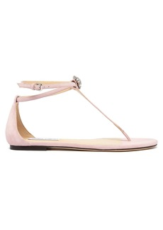 Jimmy Choo Afia crystal-embellished suede sandals