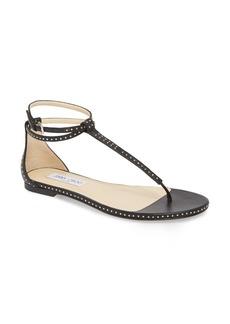 Jimmy Choo Afia Studded Flat Sandal (Women) (Nordstrom Exclusive)