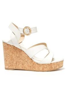 Jimmy Choo Aleili 100 wedge leather sandals