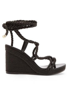 Jimmy Choo Allis 95 espadrille wedge sandals