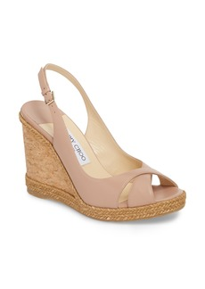 Jimmy Choo Amely Slingback Wedge (Women)