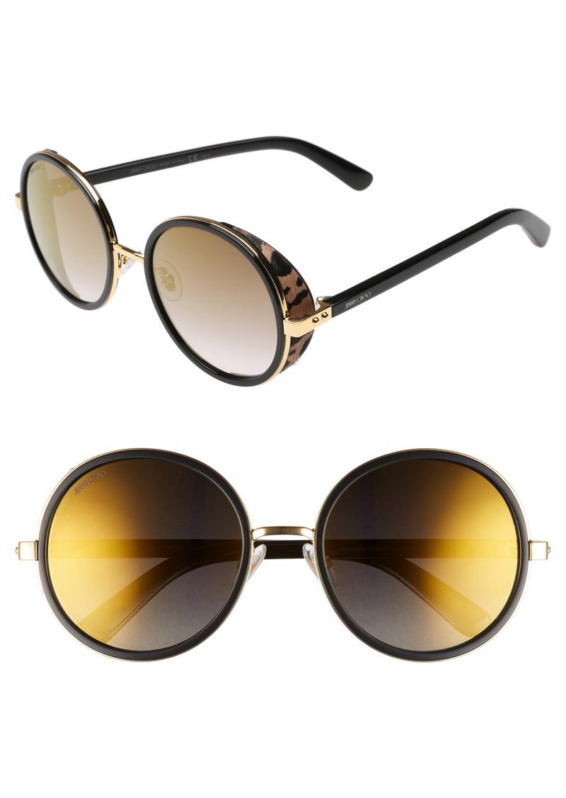 Jimmy Choo Andiens 54mm Round Sunglasses