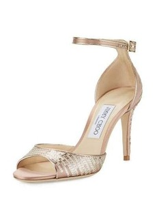 Jimmy Choo Annie Sequined 85mm Sandal