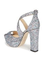 Jimmy Choo April Glitter Platform Sandal (Women) (Nordstrom Exclusive)