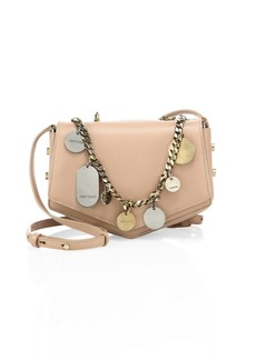 Arrow Embellished Chain & Leather Crossbody Bag
