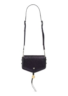 Jimmy Choo Arrow Metallic Grained Leather Shoulder Bag