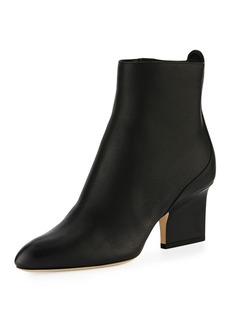 Jimmy Choo Autumn Grainy Leather 65mm Bootie