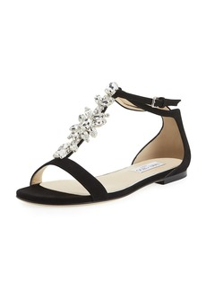 Jimmy Choo Averie Suede Embellished Sandal