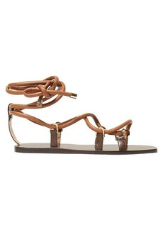 Jimmy Choo Aziza leather lace-up sandals