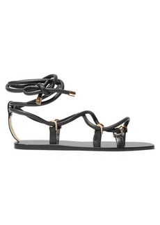 Jimmy Choo Aziza wrap-around leather sandals