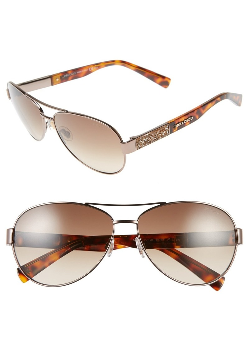 Jimmy Choo 'Babas' 59mm Aviator Sunglasses