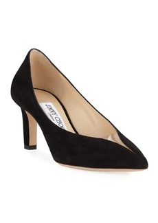 Jimmy Choo Baker Suede Pointed Pumps