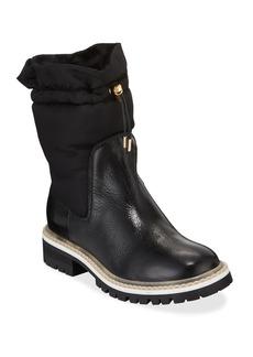 Jimmy Choo Bao Nylon and Leather Booties