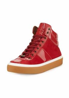 Jimmy Choo Belgravi Men's Leather High-Top Sneaker