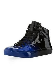 Jimmy Choo Belgravia Men's Dégradé Patent Leather High-Top Sneakers