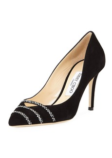 Jimmy Choo Bethany Suede 85mm Pump