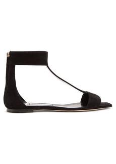 Jimmy Choo Bethel T-bar zip-back suede sandals