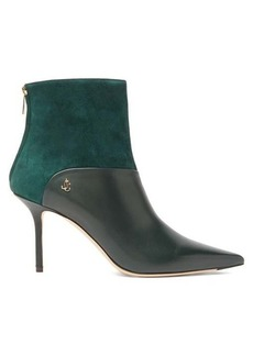 Jimmy Choo Beyla 85 leather and suede ankle boots