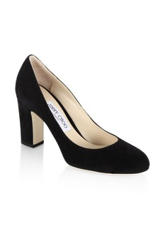 Jimmy Choo Billie 85 Suede Block Heel Pumps