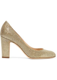 Jimmy Choo Billie 85 textured-lamé pumps
