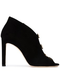 Jimmy Choo Black Lorna 110 suede vamp boots