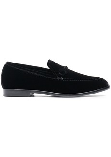 Jimmy Choo Black marti velvet loafers