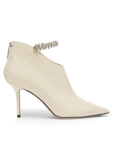 Jimmy Choo Blaize 85 crystal-embellished leather booties