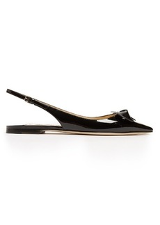 Jimmy Choo Blare point-toe slingback patent-leather flats