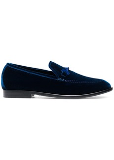 Jimmy Choo Blue Marti velvet loafers