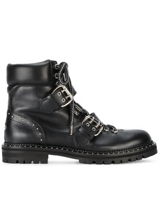 Jimmy Choo black breeze biker boots
