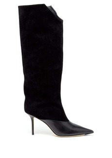 Jimmy Choo Brelan 85 suede knee-high boots