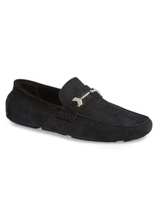 Jimmy Choo Brewer Croc Textured Driving Loafer (Men)