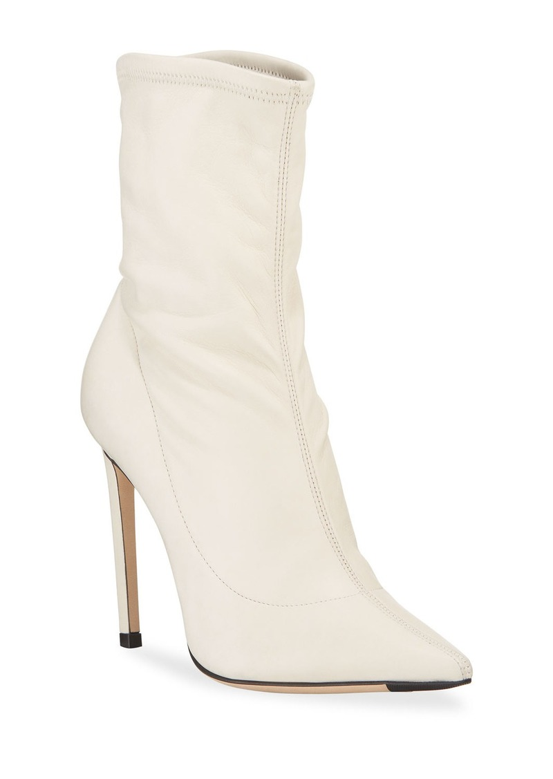 Jimmy Choo Brin Stretch Leather 100mm Booties
