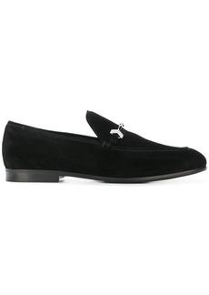 Jimmy Choo buckle embellished loafers - Black