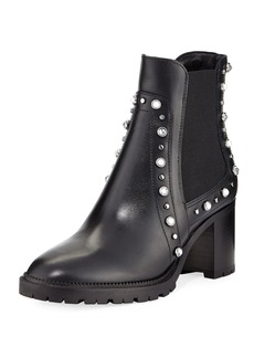 Jimmy Choo Burrow Studded Block-Heel Boot