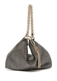 Jimmy Choo Callie crystal-embellished suede clutch