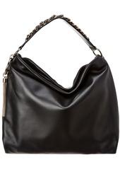 Jimmy Choo Callie Slouchy Chain Strap Leather Shoulder Bag