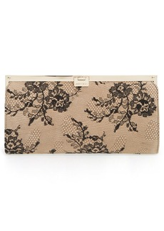 Jimmy Choo 'Camille' Lace & Leather Clutch