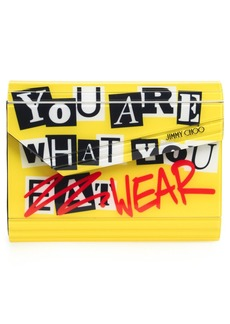 Jimmy Choo 'Candy - You Are What You Wear' Asymmetrical Flap Clutch